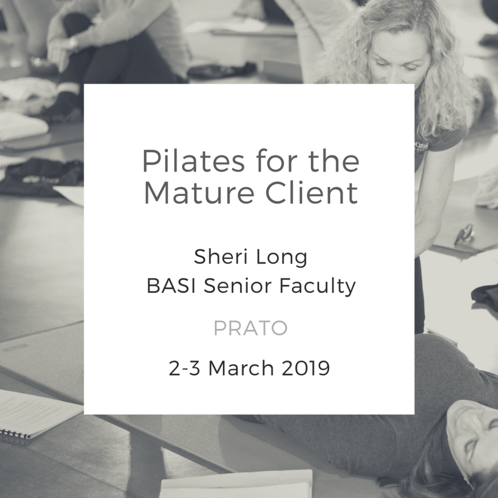 Pilates for the Mature Client Prato Italy march 2019